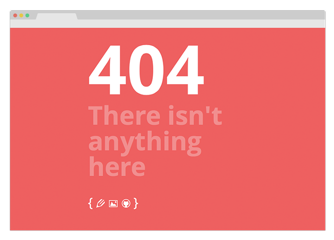 new 404 page screenshot